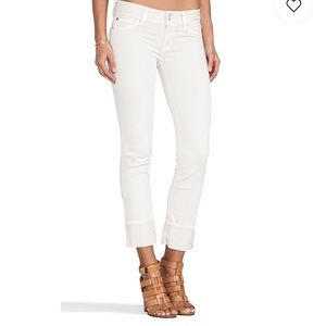 Hudson Jeans Straight Leg Cuffed Jeans Size: 28